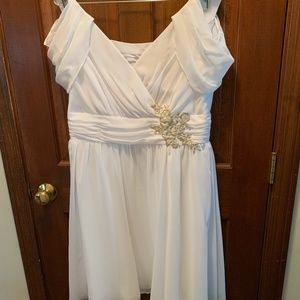 Alfred Angelo Disney Cinderella Junior Bridesmaid Dress White, size 12
